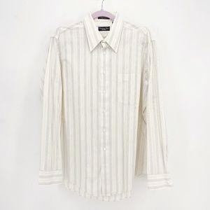 Men's Christian Dior Vintage Striped Button Up